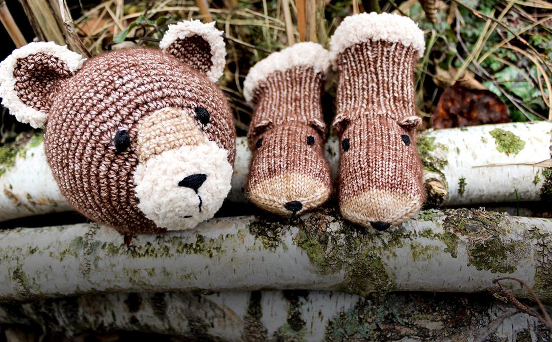Auch bei unseren Strickanleitung findest du kleine Bären