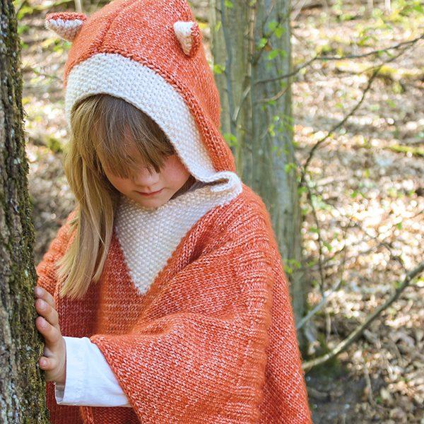 Fuchs Poncho - mitwachsend - totalwollig