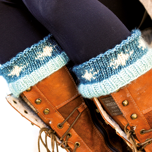 Stiefelstulpen Schneeflocke