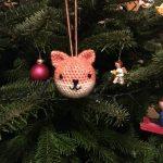 Kleine Fuchs-Weihnachtsbaumkugel