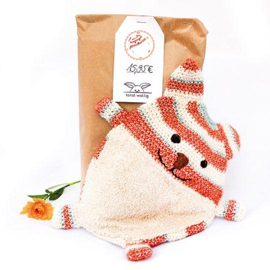 Katze Schnuffeltuch Wollset