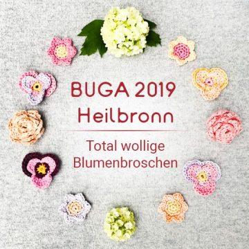 BUGA 2019 Heilbronn – Wir häkeln mit euch Vintage Blumenbroschen