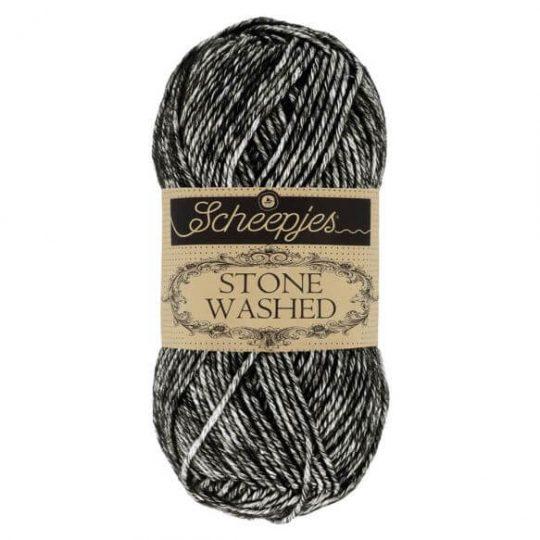 Scheepjes stone washed - 843 Black Onyx